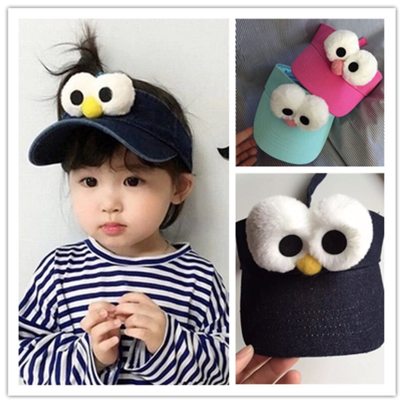 大眼遮陽帽可調整大人小孩通通 戴