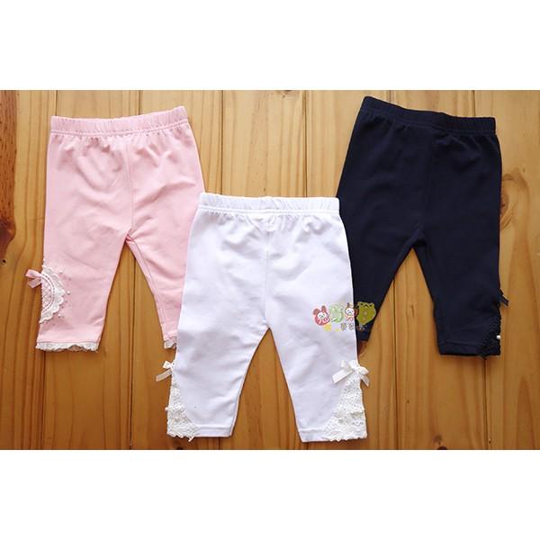 22791 中小童大童5 25 號純棉蕾絲五分褲短褲薄長褲內搭褲