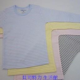 ~小三福~822 春 羅紋純棉小長袖條紋0 14 歲 製衛生內衣輕透柔 舒適