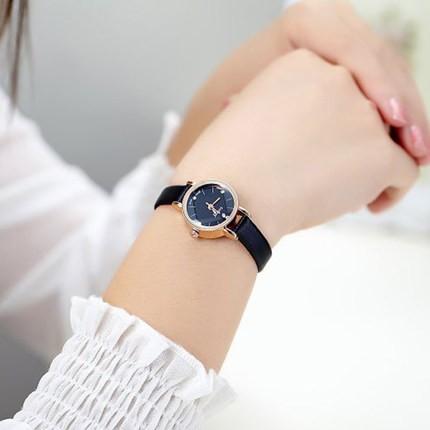 正品 潮流 復古女士手錶簡約休閒皮帶女學生表石英表時裝表