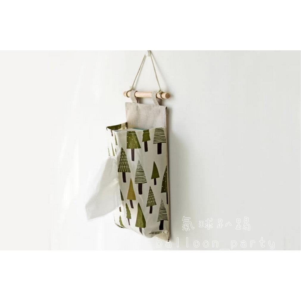 Zakka 棉麻面紙袋多層壁掛袋日系雜貨雜物收納收納袋面紙套0678