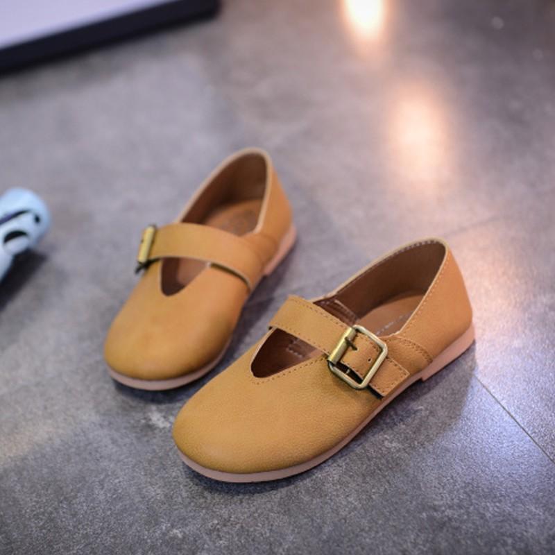 童年不同樣 童鞋休閒鞋布鞋 兒童黑色小皮鞋女童真皮復古單鞋英倫風男童軟底豆豆鞋潮