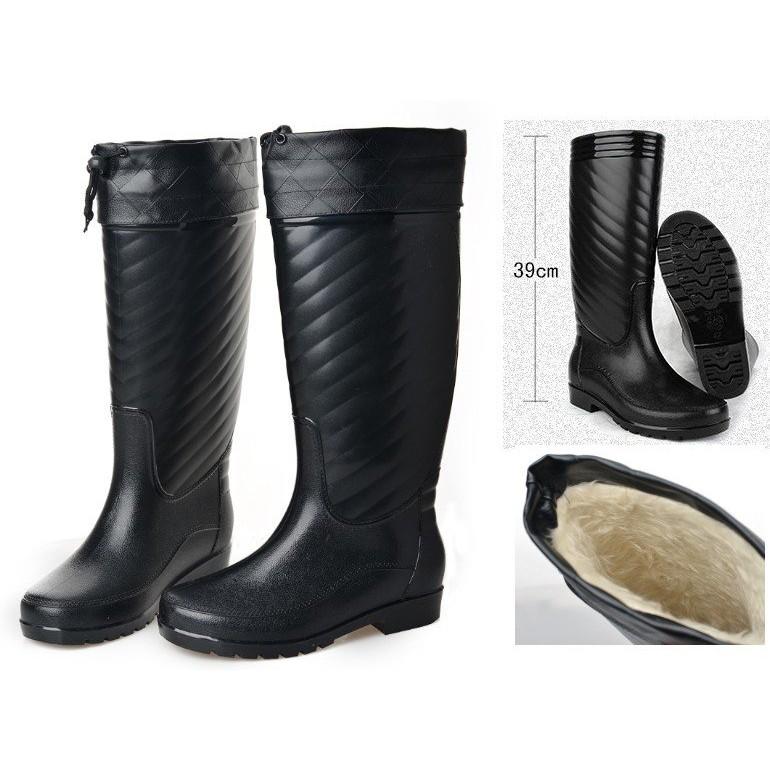 廠商 外銷韓國長筒加絨保暖雨鞋長筒雨鞋防滑雨鞋長筒雨靴 雨鞋39 44 碼