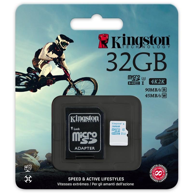 空拍攝影金士頓32GB SDCAC 32G 32GB micro SDHC U3 讀90