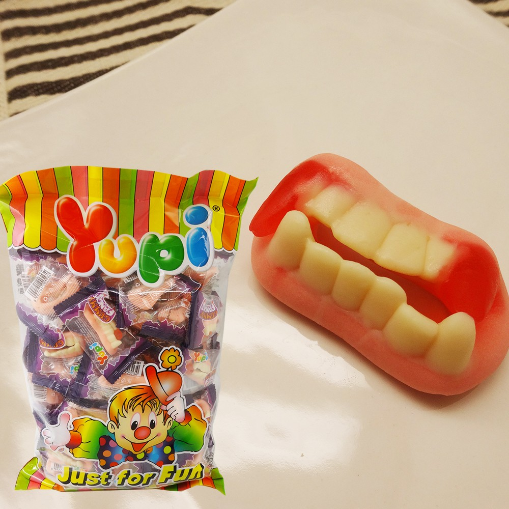 Yupi 呦皮大門牙軟糖600g 包
