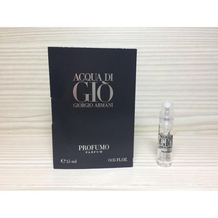 Armani Giorgio Profumo 寄情水黑瓶男性香水典藏版1 5ml 可噴式試