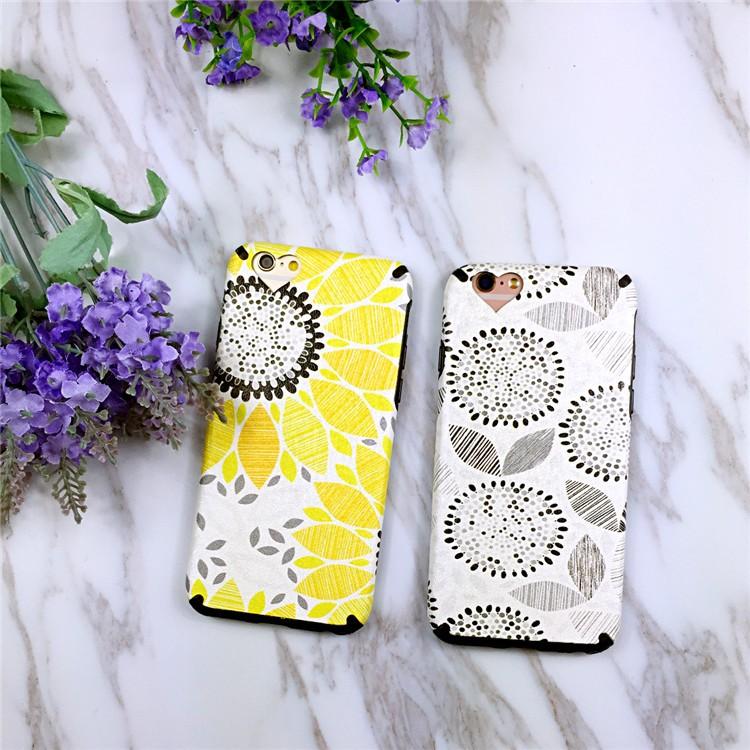 Iphone6 6s plus 太陽花小清新手機殼手機軟殼手機殼保護套