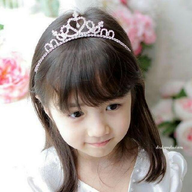 ~Bobo dress ~ 女童公主水鑽皇冠髮箍頭飾 寶寶婚紗寫真 拍照萬聖節團拍抓週歲生