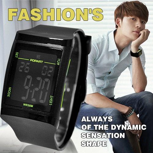 電子錶日韓方型 電子錶男女對錶鬧鈴碼錶冷光防水50M ~匠子工坊~~UT0060 ~