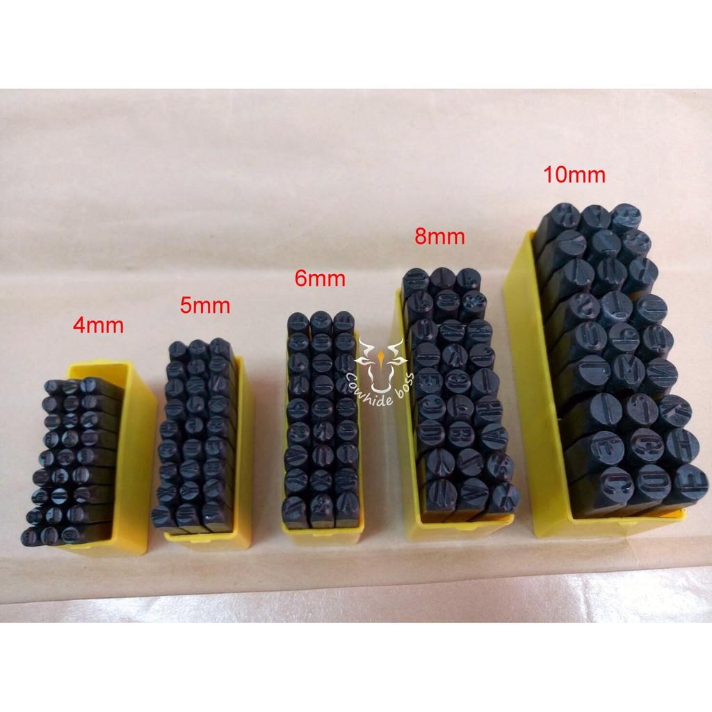 台中皮老闆皮革材料DIY 手創作工藝 打印印花英文字母鋼模鋼印