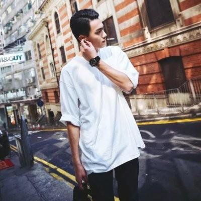 ~ ~正韓寬鬆大碼T 恤韓國東大門 蝙蝠袖日系慵懶落肩寬鬆美型七分袖 學生潮流學生T