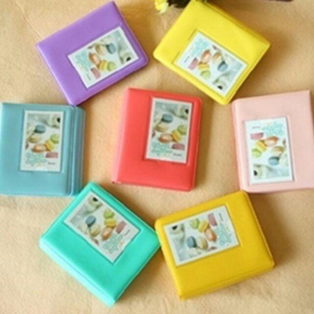 馬卡龍糖果色拍立得相本相簿 小相框、保護套、邊框貼、角貼可放64 張28 張