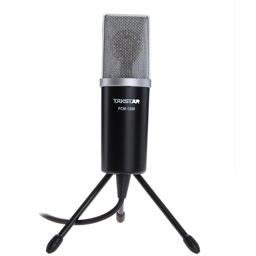 K 歌麥克風電容電腦K 歌話筒錄音設備錄音(Takstar PCM 1200 黑色)