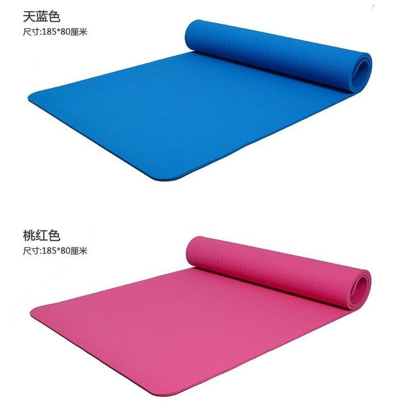 讚讚限宅配郵寄TPE 瑜伽墊185X80cmX 厚8mm 加厚加寬防滑雙人瑜伽墊加長TPE