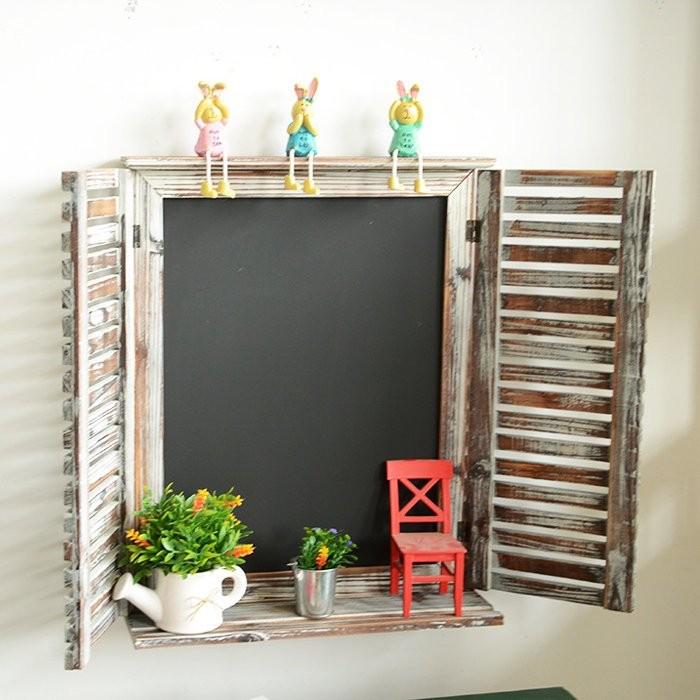 黑板花架開店裝潢窗戶 黑板百葉窗黑板小黑板留言板拍照道具掛飾佈置~BNC 71 ~