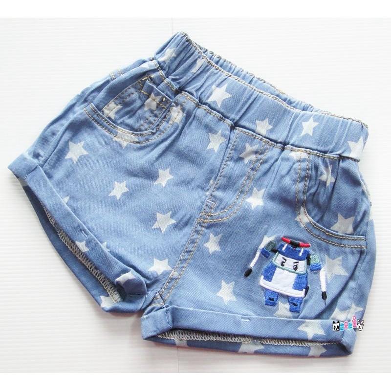 7961 Poli 救援小隊波力星星牛仔褲短褲