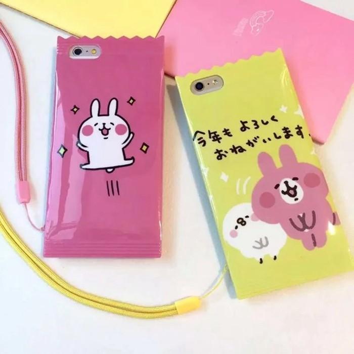 糖果包裝青蛙卡娜赫拉猴子iphone 6s 手機殼plus 包邊附掛繩防摔保護套大眼蛙