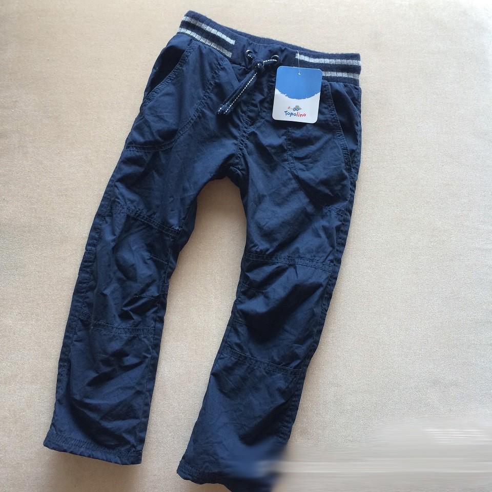 Topolino 鬆緊帶防風軟綿布雙層保暖長褲休閒褲男童女童適穿