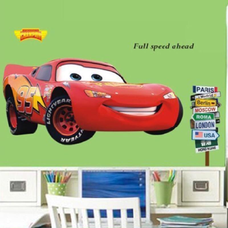 閃電麥坤汽車總動員壁貼車車PVC 卡通玩具車牆貼兒童房間客廳廚房浴室佈置