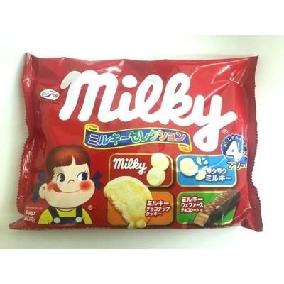 爆買 不二家milKy peko 綜合包糖果餅乾巧克力果子4 袋入 ~ 款~
