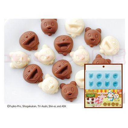 哆啦A 夢小叮噹小叮鈴大頭 矽膠製冰盒冰塊模具冰塊盒巧克力果凍模具~MOCI 日貨~貝印