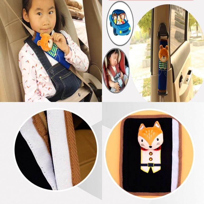 R ~H002 韓國卡通可愛立體汽車安全帶護肩套~兒童安全帶裝飾安全帶護套側邊枕頭布偶玩偶