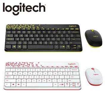 新品logitech 羅技MK240 Nano 無線鍵鼠組黑色黃邊白色紅邊