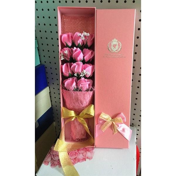 11 朵一心一意告白情人節求婚生日結婚 日香皂花玫瑰花花束 送禮閨蜜女生女友老婆