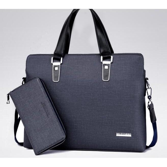 出貨男包商務包斜挎包手提包橫款單肩包公文包男士包包灰色僅此一個