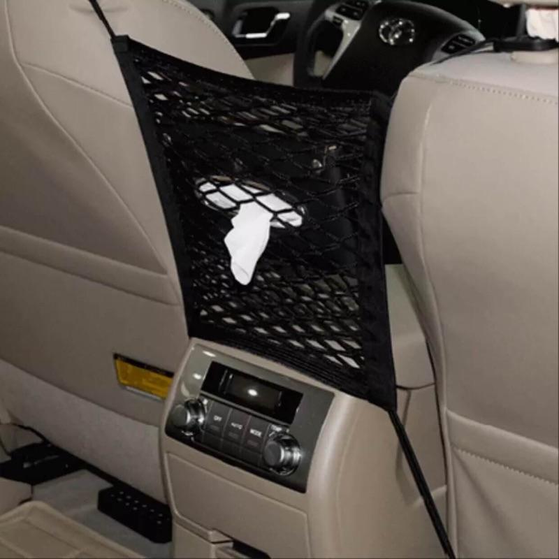 { } 型汽車掛袋車載收納袋車用置物袋汽車隔離網兜座椅間椅背網