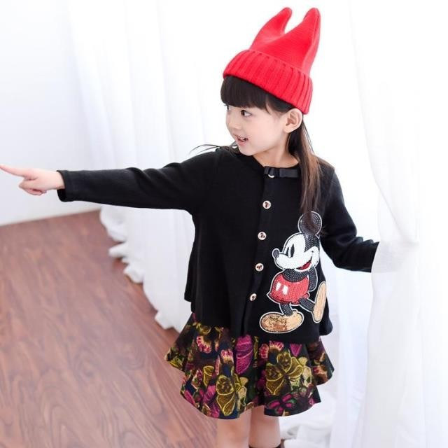 ~H A S ~ 復古印花短裙B002