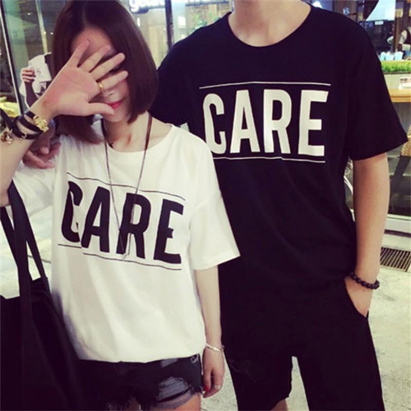 下殺韓國大碼寬鬆 短袖T 恤男女情侶閨密姐妹裝學院風CR0233