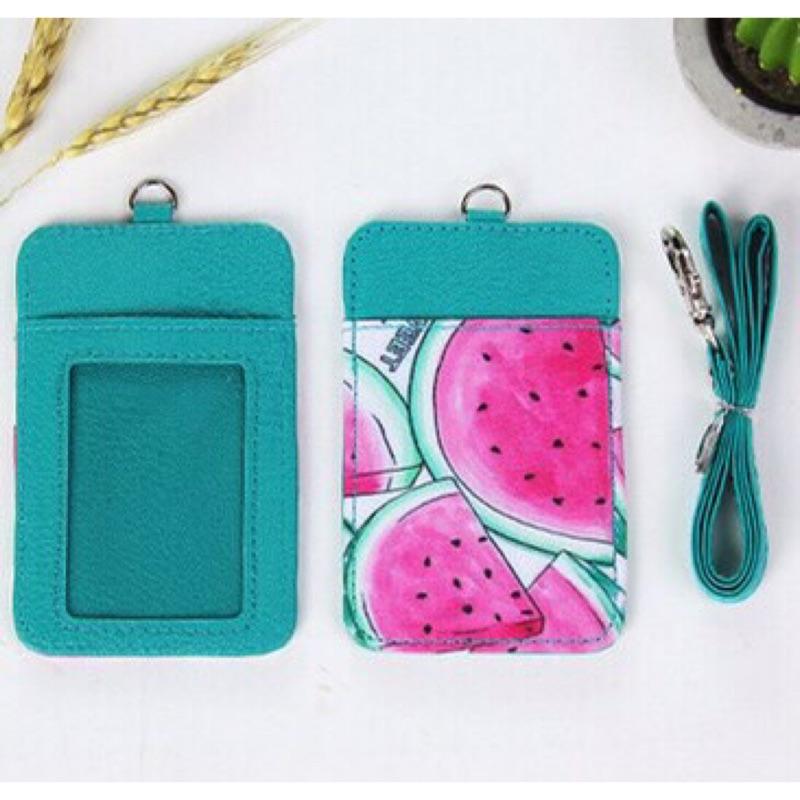 水果卡片套皮套悠遊卡一卡通公車卡銀行卡卡套鑰匙扣卡包鑰匙圈掛繩卡袋