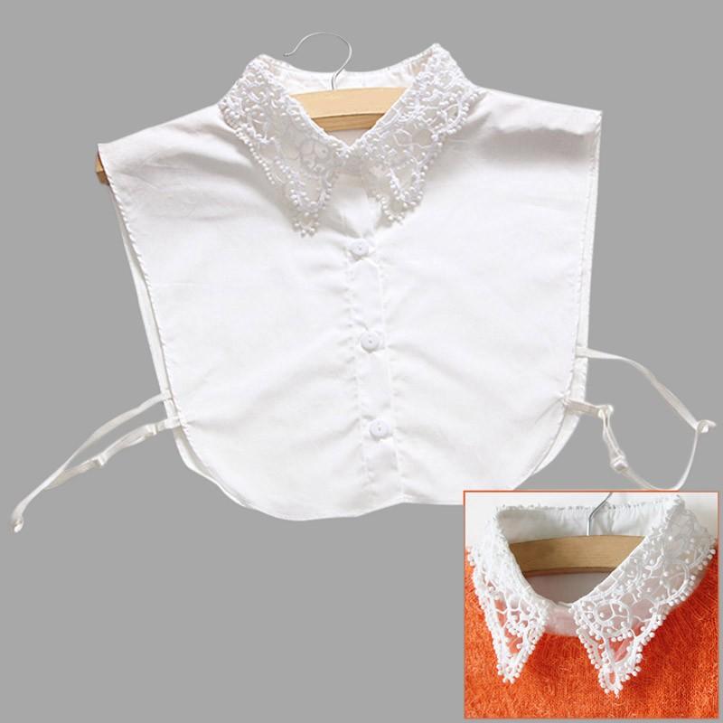 ☔☔ 假領子女士百搭花邊立領 假領蕾絲襯衫襯衣白色裝飾領子YE0040
