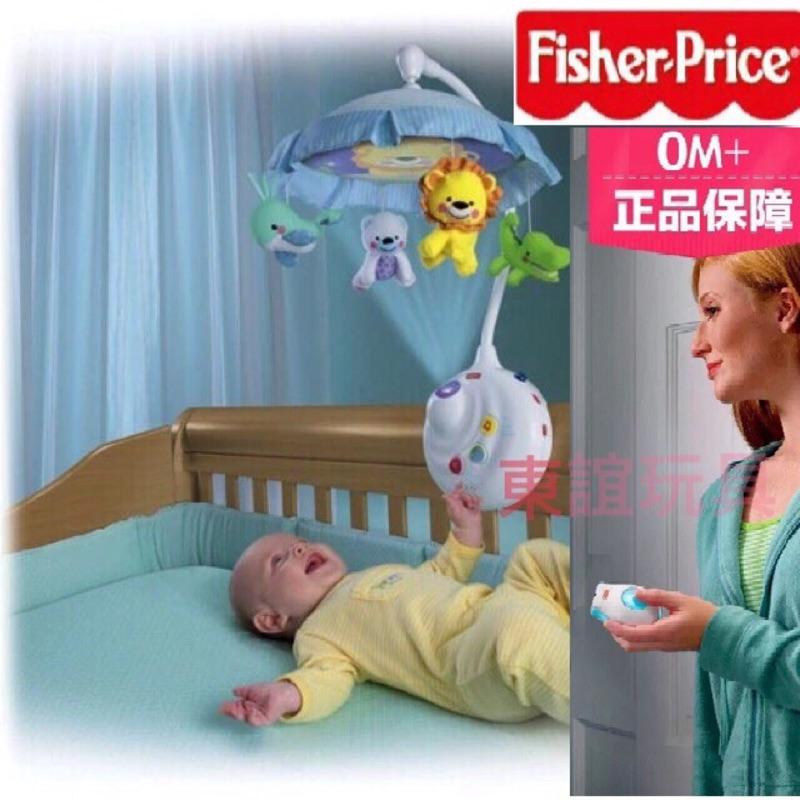 費雪兩用音樂床鈴Fisher Price 床鈴附遙控器遙控床鈴聲光投射音樂吊鈴寶寶床掛鈴旋