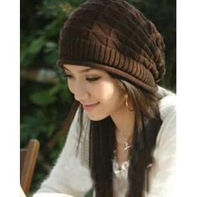 針織 帽子女秋 高檔產婦帽月子帽情侶帽女士頭巾套頭堆堆帽~東京戀歌~