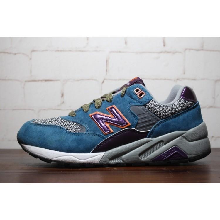 New Balance 580 紐巴倫NB580 復古麂皮慢跑鞋休閒鞋 鞋男女鞋藍紫灰MR