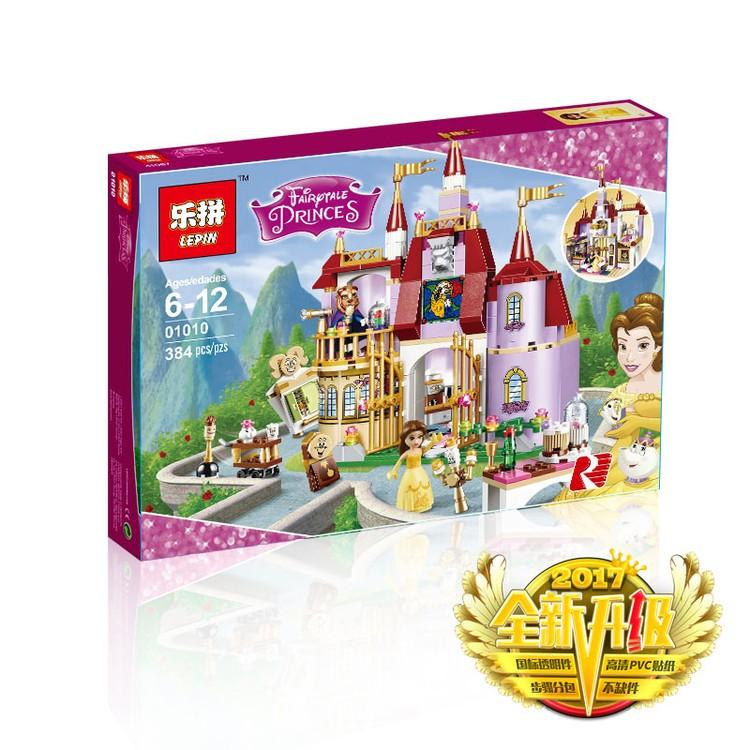 ~三腳貓~ )樂拼01010 迪士尼公主系列美女與野獸貝兒的魔法城堡相容樂高41067 積