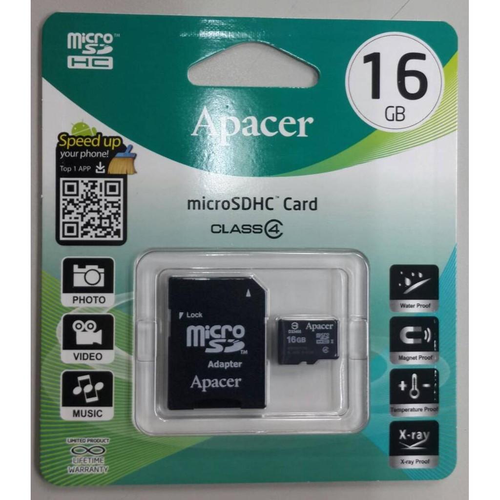 Apacer 16GB microSDHC ~宇瞻 貨~16G MicroSD TF C4