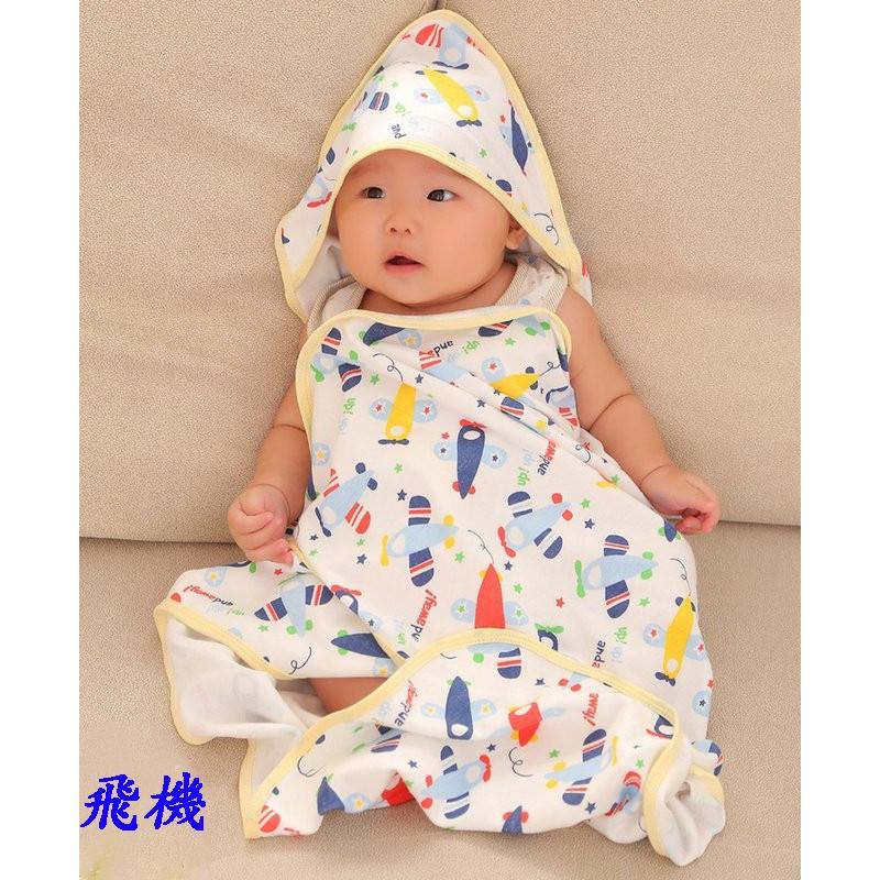 款嬰兒包巾聰明包巾懶人包巾抱袋抱被空調被薄毯嬰兒被單小被子新生兒浴巾包被尺寸80 80CM