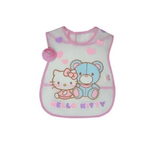 愛嬰寶2館 HELLO KITTY  凱蒂貓EVA 圍兜 飯兜 塑膠圍兜 ~K7366 ~