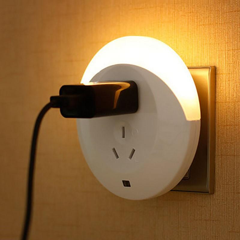 LED 插電小夜燈床頭睡眠起夜光控感應智能USB