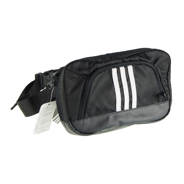 愛迪達adidas 斜背包三條線機能 款 休閒腰背側背包 蛇紋包黑M67853 藍S247