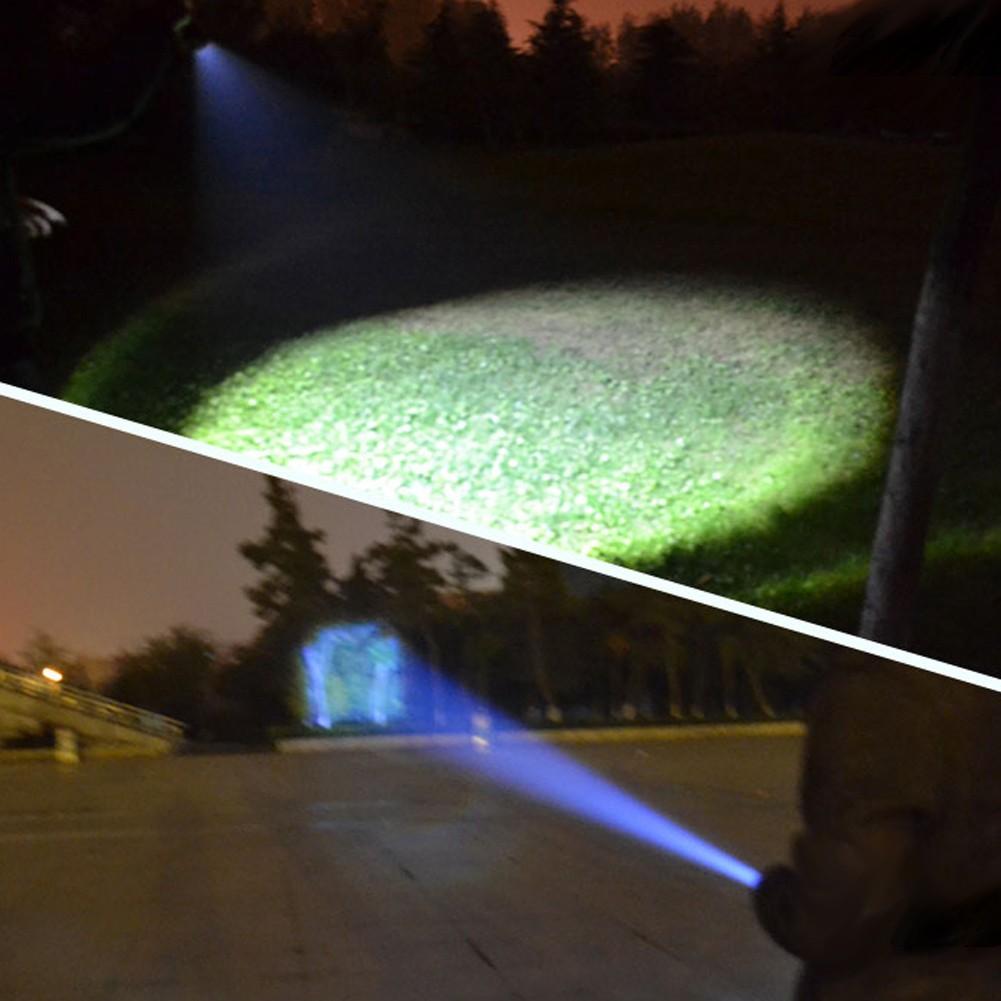 Q5 旋轉變焦強光手電筒LED 遠射18650 電池充