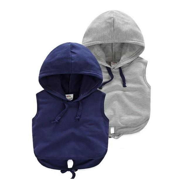 E951 男寶寶純色馬甲背心男童連帽背心兒童無袖馬甲上衣MAMA 咪呀 衣鋪