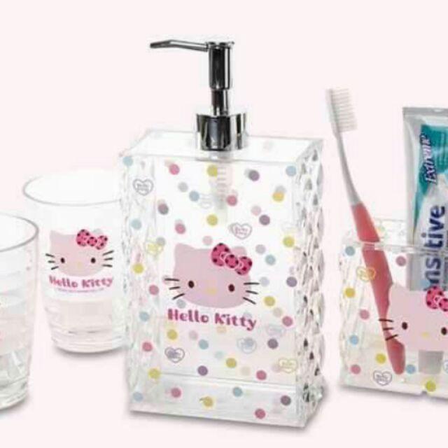 hello kitty 凯蒂猫卫浴套n 850 n 宝贝尺寸:n 牙刷架:11 3x5 5