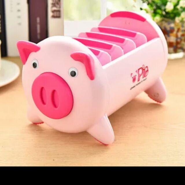 期間10 1 10 15 韓國小豬塑料桌面收納盒、手機遙控器整理盒