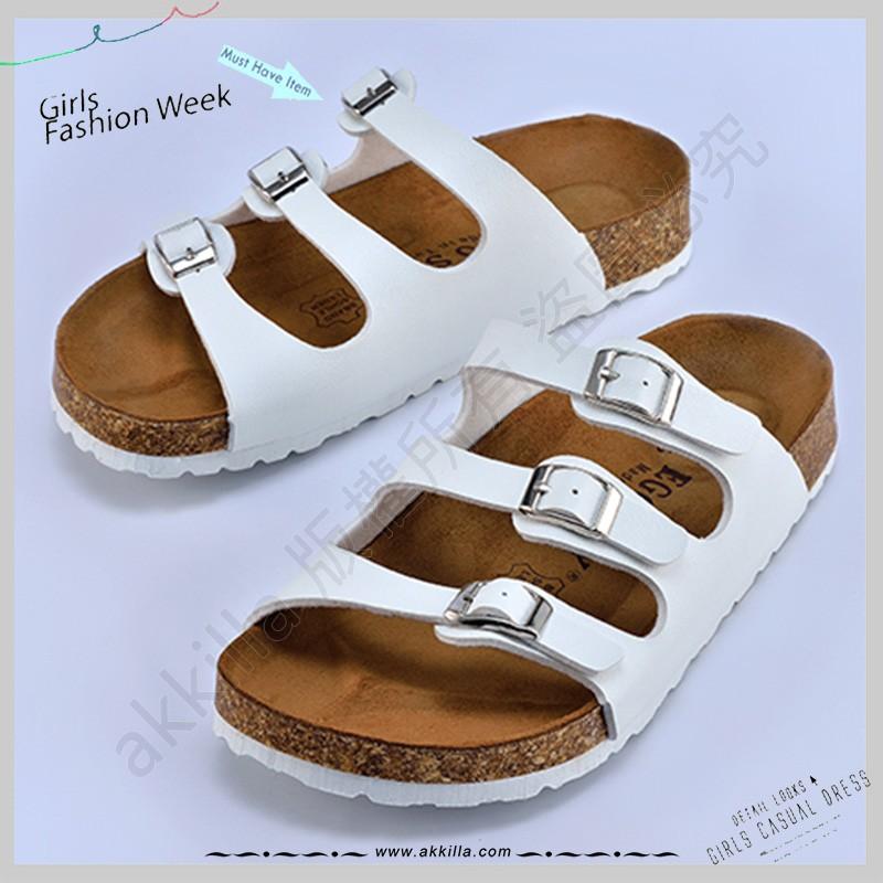 勃肯FLORIDA 佛羅里達三條復古勃肯鞋拖鞋柏肯拖鞋可當情侶鞋拖鞋MIT  真皮鞋墊超強