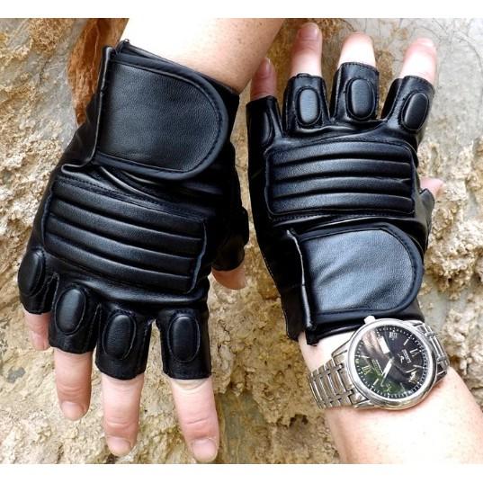~灰熊Q ~男款戶外摩托車半指 保暖手套加厚戰術格鬥手套 保暖手套防風手套
