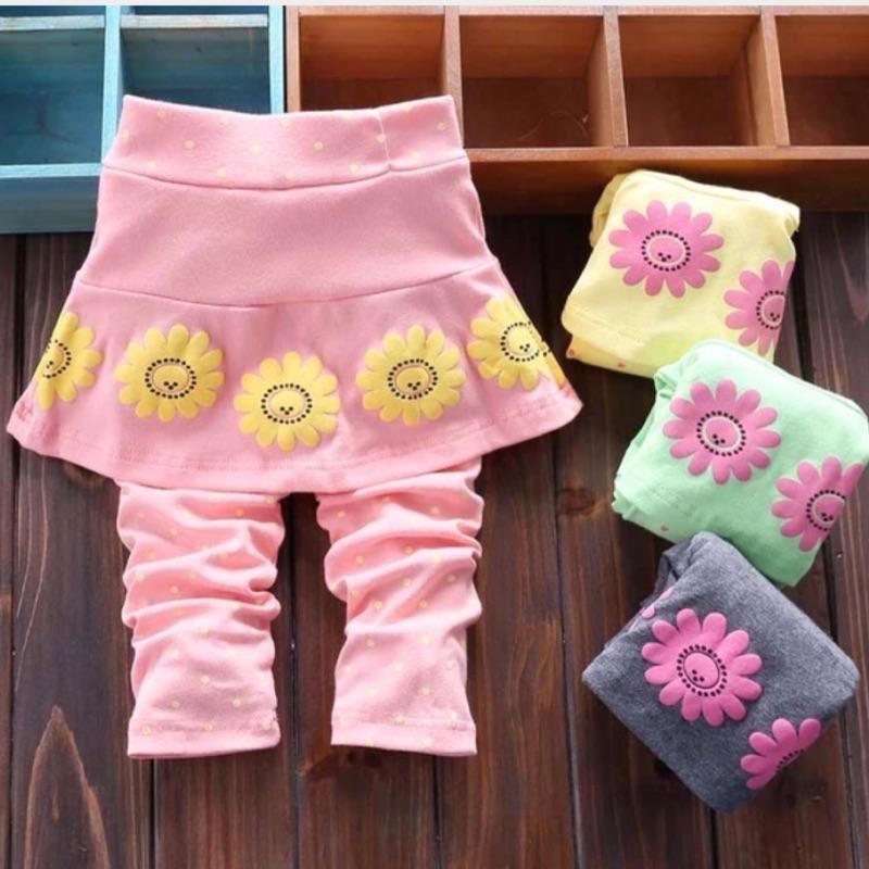 女童打底褲春秋款兒童休閒褲2 3 嬰兒純棉長褲1 歲女寶寶褲子